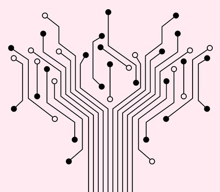 Technology background with electronic circuit. Is the modern About computers. Stock Vector - 15053231