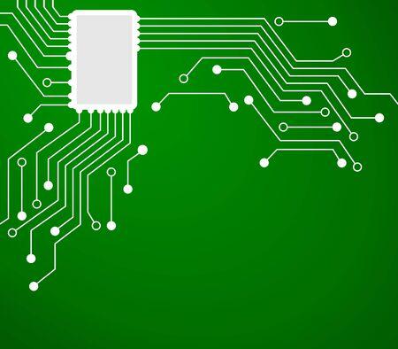Technologie achtergrond met een elektronische schakeling. Is de moderne Over computers.