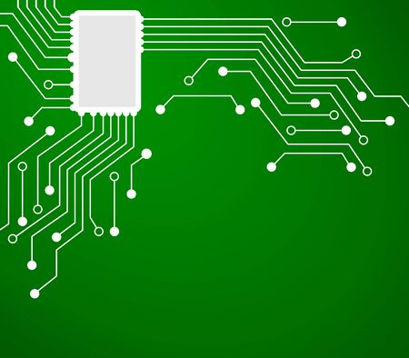 Technology background with electronic circuit. Is the modern About computers.