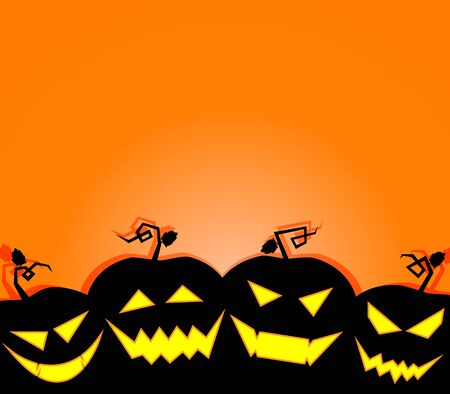 Halloween terrible background illustration  Vector