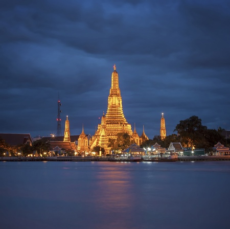 Wat Arun is the fascinating culture. A major tourist attraction in Bangkok, Thailand. photo