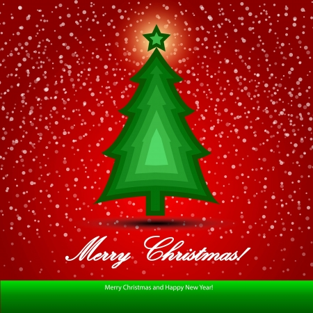Christmas background with Christmas tree, illustration Stock Vector - 16556392