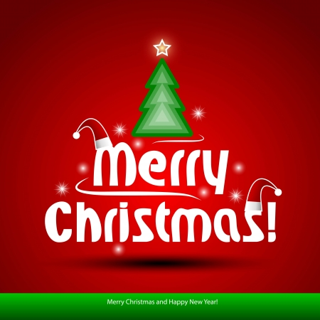 Christmas background with Christmas tree, illustration  Illustration