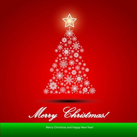 イラスト クリスマス ツリーとクリスマスの背景