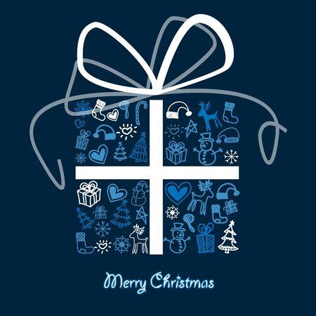 휴가 시즌에 관련된 패턴으로 크리스마스 선물 상자.