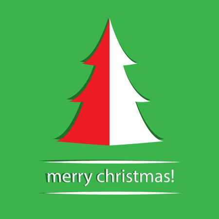 Christmas background with Christmas tree, vector illustration  Vector