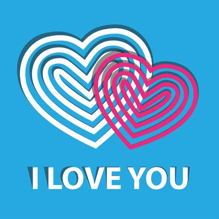 Messaggio d'amore a San Valentino, a forma di cuore illustrazione vettoriale.
