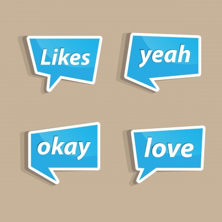 likes: Speech bubbles to talk about likes A vector illustration. Illustration