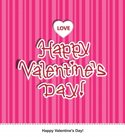 Message for Valentine's Day. Illustration  Stock Vector - 17588966