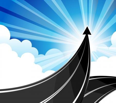 目標は、ビジネスの成功へのパスを旅行します。