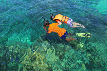 Snorkeling island in Thailand It is a popular tourist destination. photo