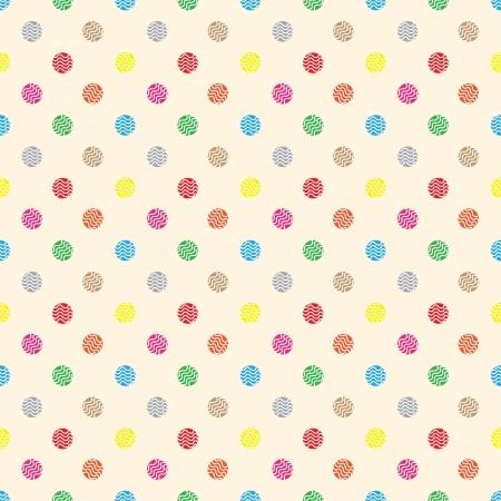 シームレスな壁紙かわいい円菓子。