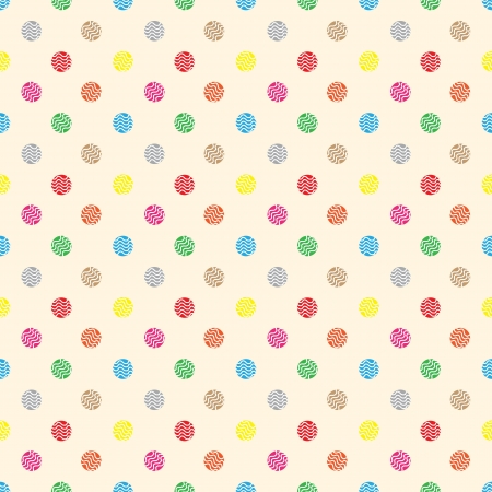 Seamless wallpaper cute circle pastry. Illustration