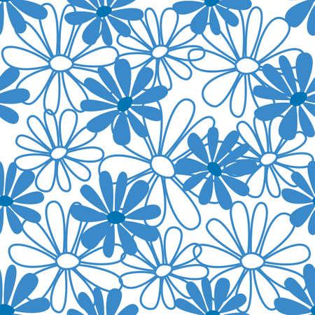 Floral seamless pattern. illustration Vector