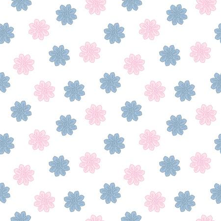オリエンタル桜パターン。ヴィンテージの花春のシームレスな背景  イラスト・ベクター素材
