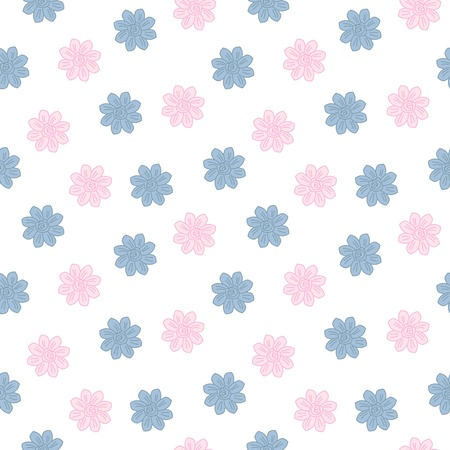 scrapbooking paper: Oriental cherry pattern. Vintage floral spring seamless background
