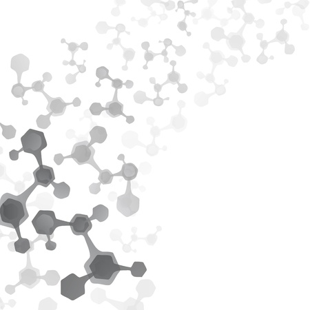 Abstract molecules medical background Stock Vector - 22119003