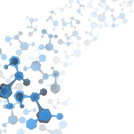 genetica: Molecole astratte background medico Vettoriali