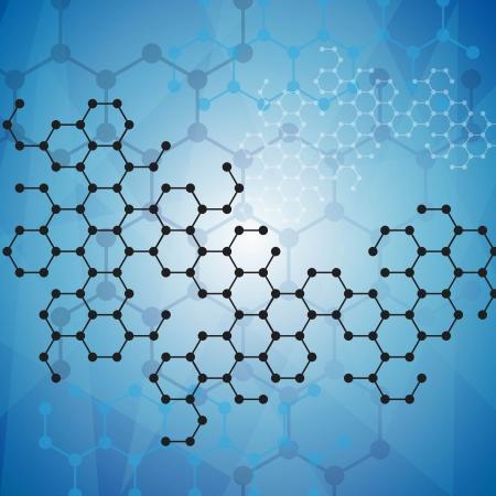 Abstract moleculen medische achtergrond