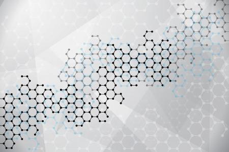 Abstrakte Moleküle medizinischen Hintergrund Standard-Bild - 22119049