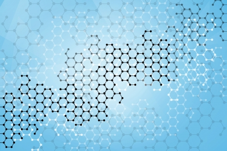 Abstract molecules medical background Vector