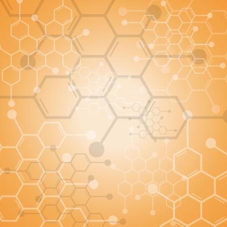 Abstrakte Molek?le medizinischen Hintergrund Standard-Bild - 22238247