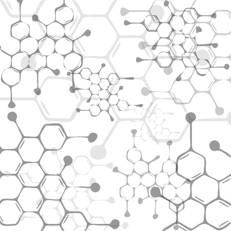 Abstract molecules medical background 向量圖像