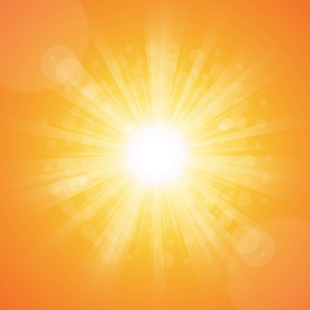 Bright sunny days sunset sky orange background for illustrations  Vector