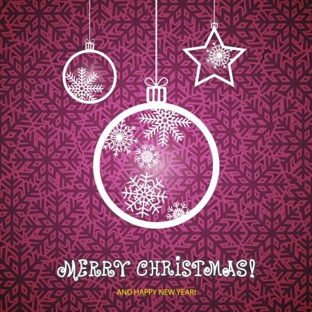 Kerst ornamenten gemaakt van sneeuwvlokken vector illustratie Stock Illustratie