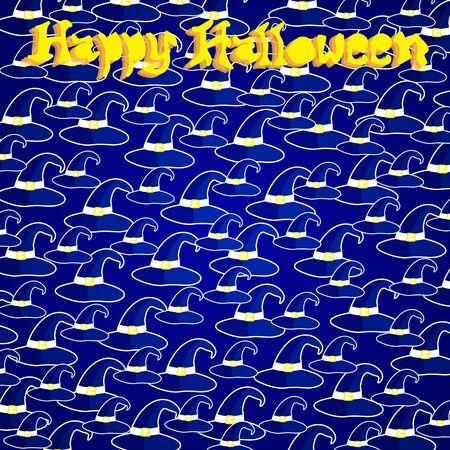 headwear: Happy halloween card design. Halloween vector illustration