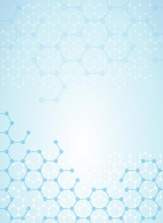 Abstrakte Moleküle medizinischen Hintergrund Standard-Bild - 24509058