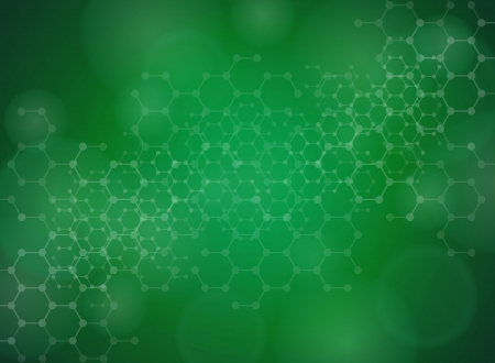 green chemistry: Abstract molecules medical background Illustration
