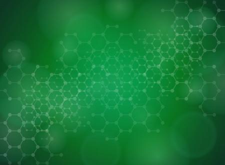 grün: Abstrakte Moleküle medizinischen Hintergrund