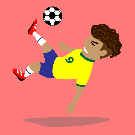 jugando futbol: Ilustración vectorial Jugador de fútbol Vectores