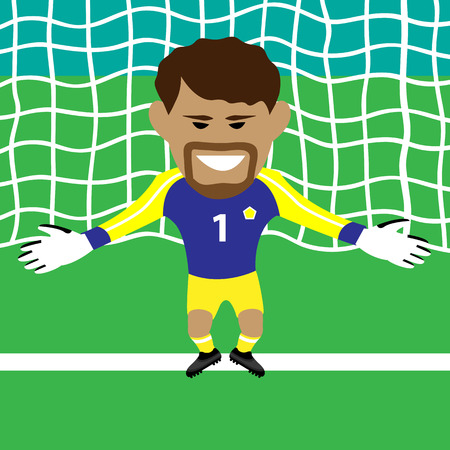 goalkeeper vector illustration Vector