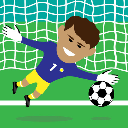 school playground: goalkeeper vector illustration Illustration