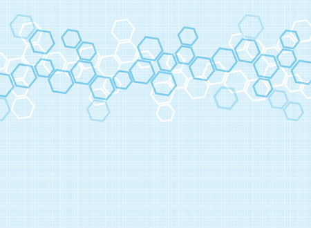 Abstract molecules medical background Ilustrace