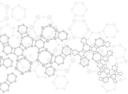 computer scientist: Abstract molecules medical background Illustration