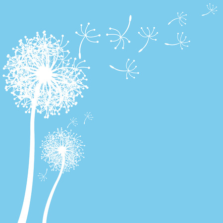 posterity: vector dandelion on a wind loses the integrity