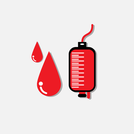 blood transfusion: Blood donation medicine help hospital save life heart Illustration