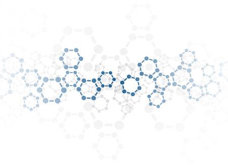 Abstrakcyjne tło cząsteczki medyczny Ilustracje wektorowe