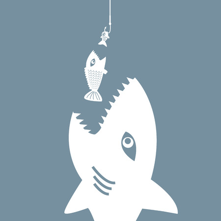 predatory: big fish eat little fish