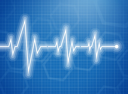 Medical design -  cardiogram Vector