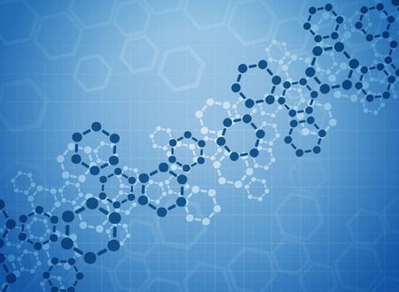 cardiogram: Abstract molecules medical background Illustration