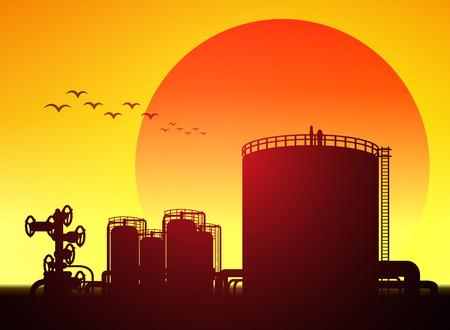 storage tank: oil tank storage in oil refinery petrochemical industry estate