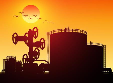 oil tank: oil tank storage in oil refinery petrochemical industry estate