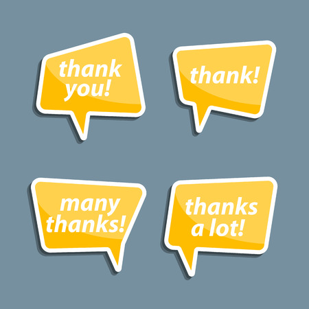 thanks a lot: Speech bubbles to talk about thank A vector illustration.