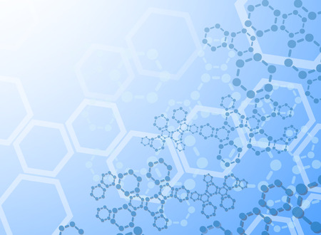 Abstract molecules medical background Vettoriali