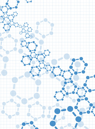 cloning: Abstract molecules medical background Illustration