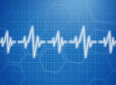 cardiogram: Medical design -  cardiogram